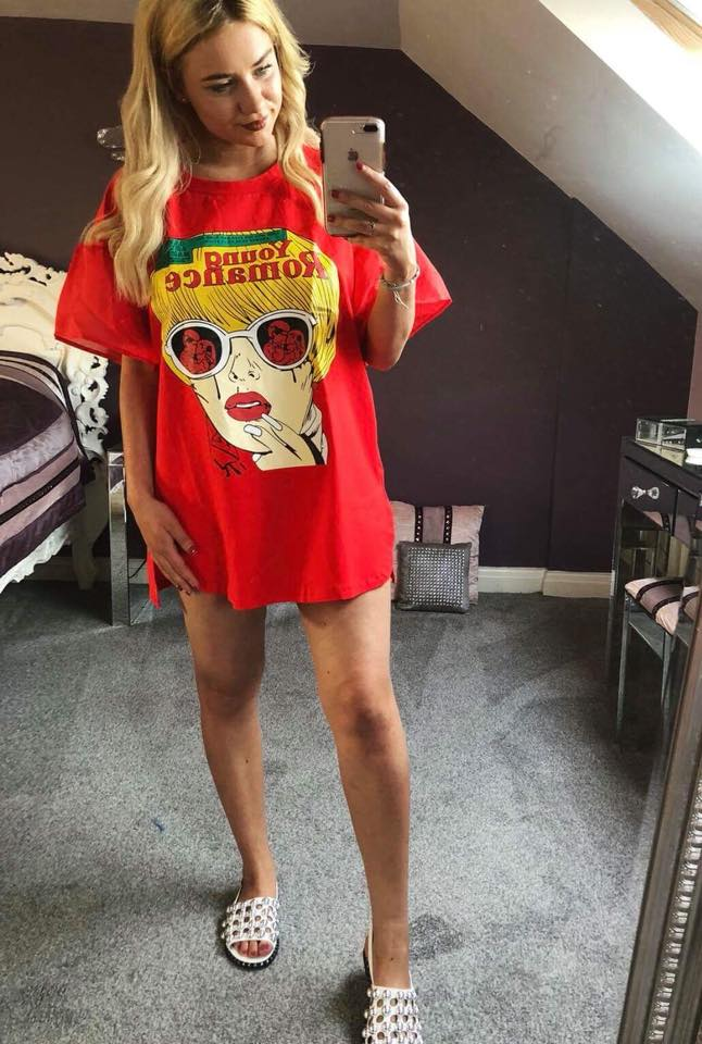 Red 'Young Romance' Tshirt Dress